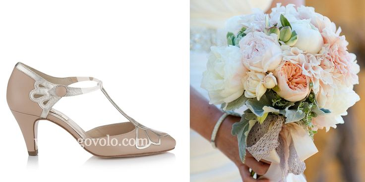 Zapatos de novia Gardenia Melocotón en www.egovolo.com