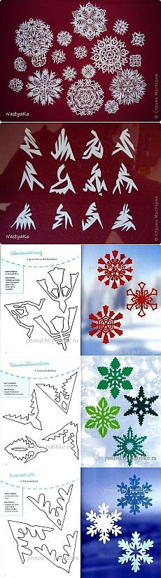 Снежинки (МК + много схем)