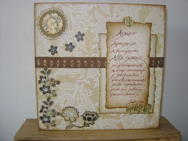 Retablos decorativos personalizados para reconocimientos, felicitaciones y agradecimientos. Diseños Marta Correa Blog: disenosmartacorrea.blogspot.com Cel: 321 643 63 84