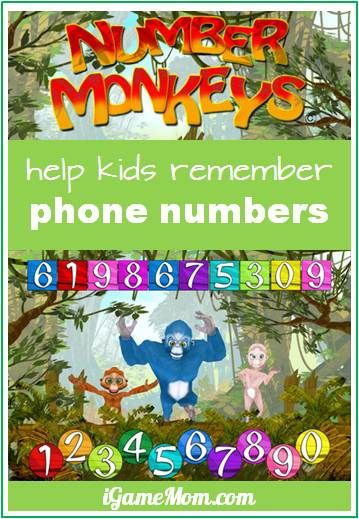 what a fun way to help kids remember phone numbers - make it into a song and have them sing it with cute monkeys! #kidsapps