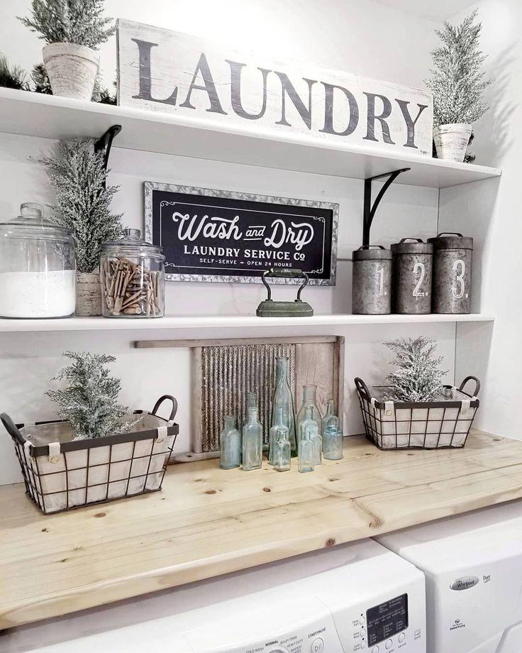 Legende  44 Unglaubliche Deko-Ideen für kleine Waschküchen