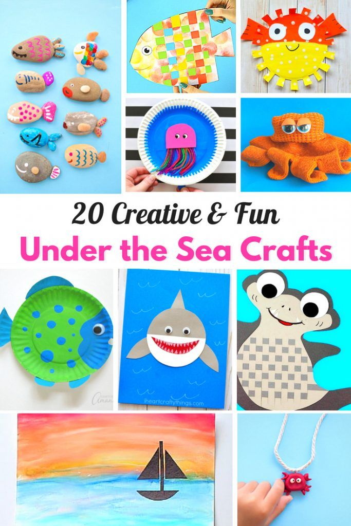 25 Under The Sea Crafts For Kids With Images Ocean Crafts