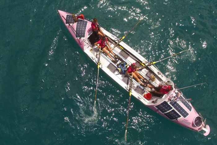A group of British women has become the first team of four to row the Pacific Ocean after ending their mammoth journey at Cairns in far north Queensland.