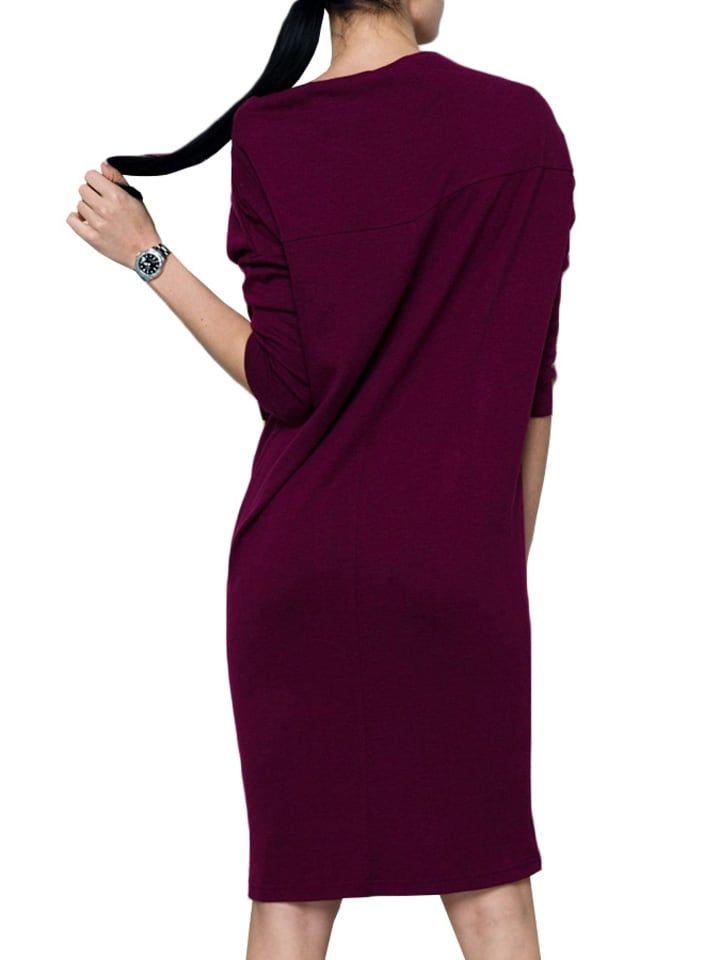 d9d71ef201 Sukienka w kolorze fuksji - Andrea Crocetta - Wyprzedaż w Outlet Limango