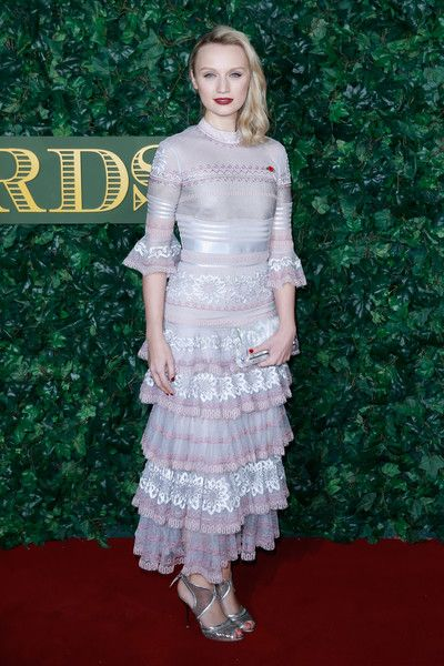 Emily Berrington attends The London Evening Standard Theatre Awards at The Old Vic Theatre on November 13, 2016 in London, England.