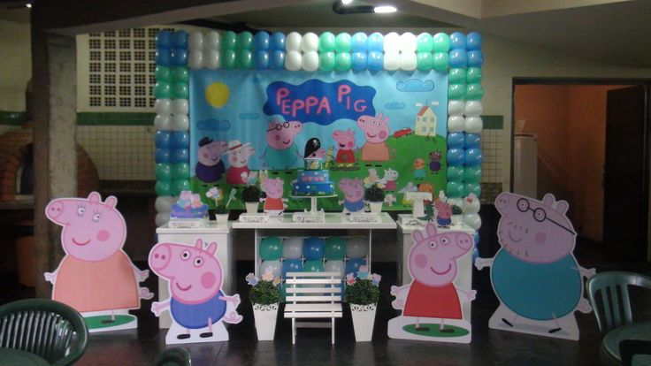 Decoração Clean George Peppa Pig | Decoração Clean Abracadabra | Elo7