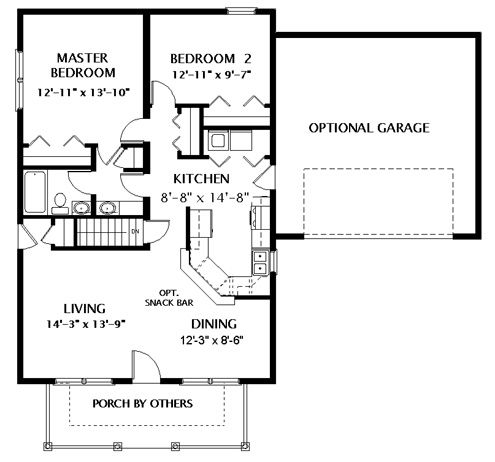 20 best in law additions images on pinterest for Cabin addition floor plans