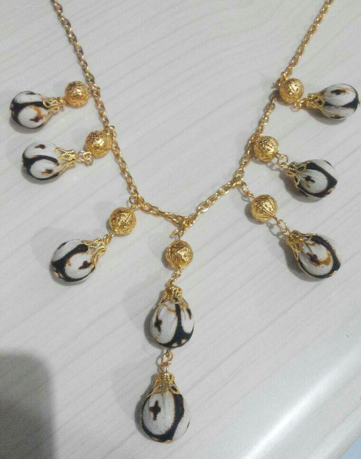 Batik necklace #batik #Jewelery #ethnic #luxuries