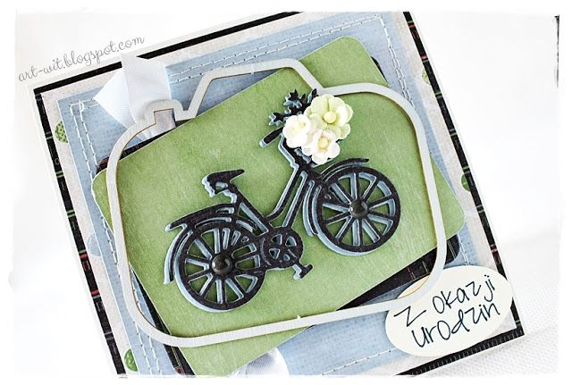 Today I present a birthday card for man who enjoys cycling trips. [Marzena]