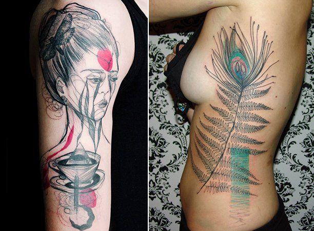 Criada na Alemanha, a ilustradora ucraniana Marta Lipinski sabe bem para onde vai e, por isso, dispensa buscar referências de outros artistas no momento de criar seu próprio trabalho. Apaixonada pela ilustração e pela pintura, vê no papel o seu grande amor, mas se rendeu (ainda bem) ao maravilhoso mundo da arte na pele. Lipinski começou tatuando por influência de um homem que hoje é seu marido. De fato, Lipinski e tatuagens só poderia acabar em um casamento feliz, já que é impossível não…