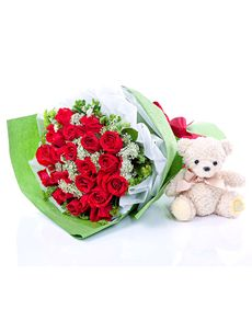 Singapore Flowers: Lovable Red Rose Bouquet!