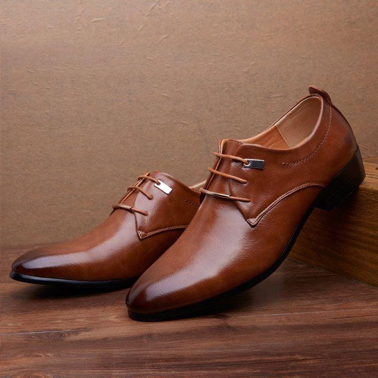 2016 Designer Classic Men Dress Shoes PU Wingtip Italian Formal Shoes