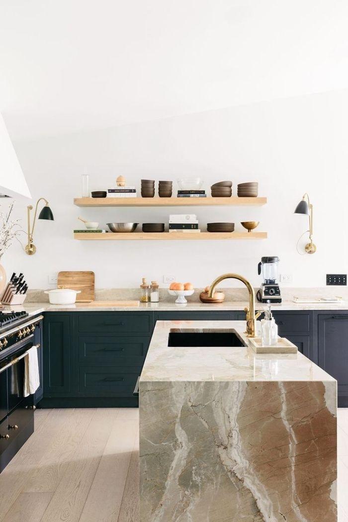 ▷ 1001 + idées pour une implantation avec un îlot central de - Cuisine Moderne Avec Ilot Central