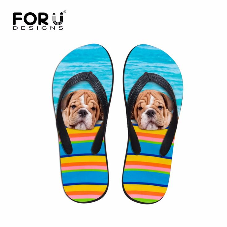 Summer Beach Flip Flops for Women  #bulldog #bulldogpuppies #frenchbulldog #bulldogpuppy #englishbulldog #bulldoglover #shoes #shorelove #bulldgdesign #coolfeet
