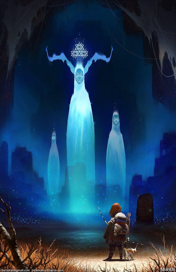 Journey of Anoh: Ancestral Spirits, Christopher Balaskas on ArtStation at https://www.artstation.com/artwork/QX4GL