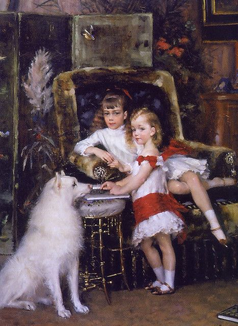 Albert Edelfelt (1854-1905) Finnish Painter. The children of tsar Alexander III. 1882