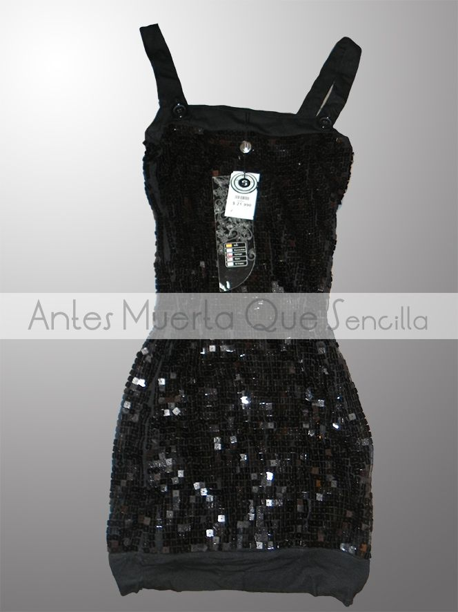 Vestido Fiesta Lentejuelas // color negro