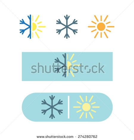 Vector air conditioning icon in eps - stock vector