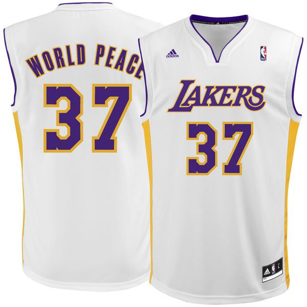 Metta World Peace Los Angeles Lakers adidas Replica Jersey - White - $55.99