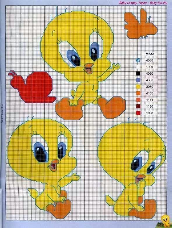 Punto de Cruz Looney Tunes
