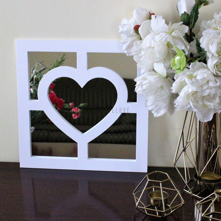 Dekoracyjny panel kwadratowy do luster IKEA - serce+