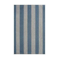 Blue/Cream Stripe Rug