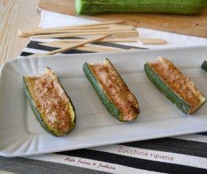 mini barchette di zucchine ripiene al forno di Miele farina & fantasia