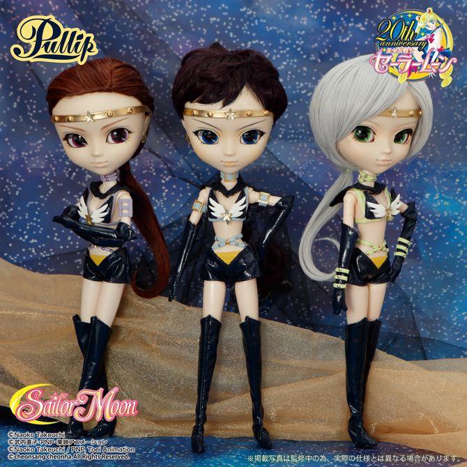 Sailor Starlights Pullip Dolls: Fighter, Healer, Maker