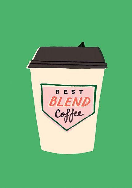 Coffee, design, illustration, screen print, drawing, colour