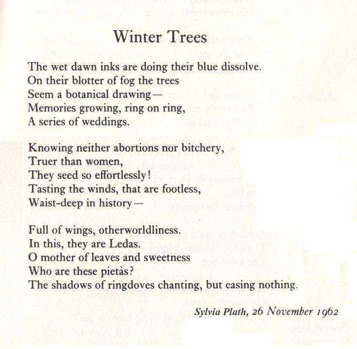 winter trees sylvia plath pdf