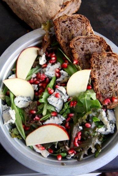 Insalata di melagrana e gorgonzola