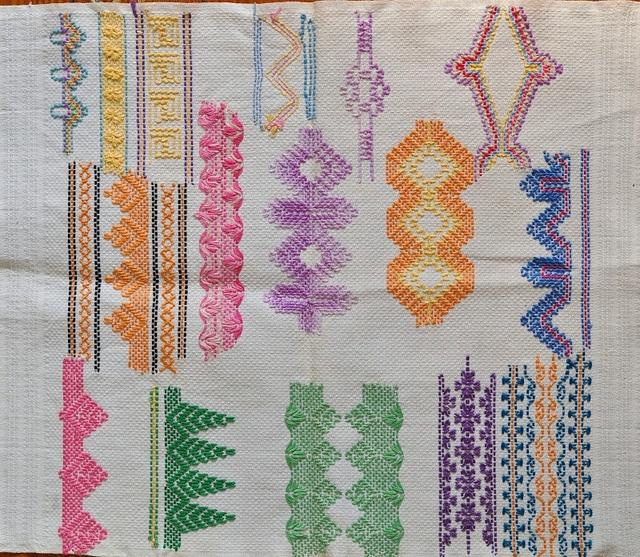 Swedish Weaving sampler