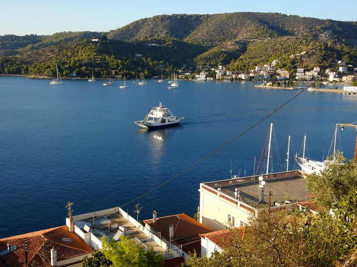 Stroll the town of Poros - Greek Islands - visited on Gael Force 1 in 2016