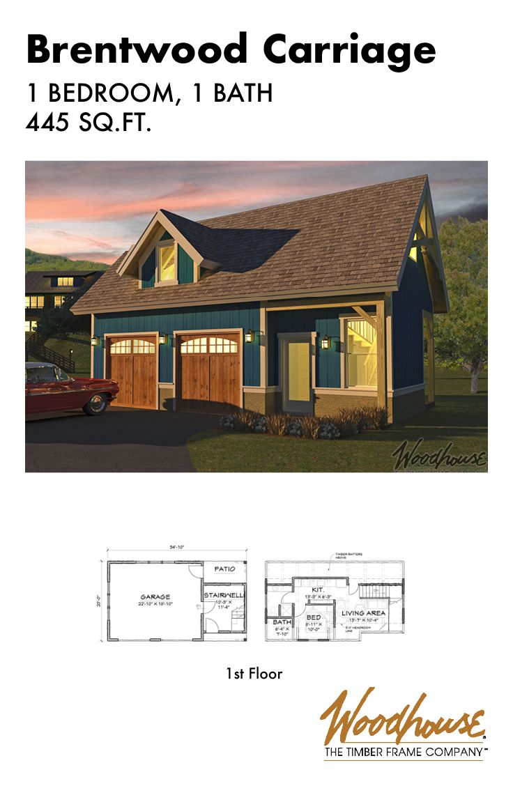 excellent guest house over garage. The Brentwood Carriage Home is an excellent option for a guest house or  that man cave you ve always dreamed of Or it could be used as 1 bedroom 19 best Small Homes Cabins Cottages images on Pinterest Log