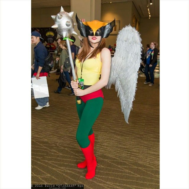 Lovely Hawkgirl Cosplay at Emerald City Comicon 2015. Mask by Ravenwood Masks http://ift.tt/1G3ytl9 #cosplayer #cosplay #hawkgirl…