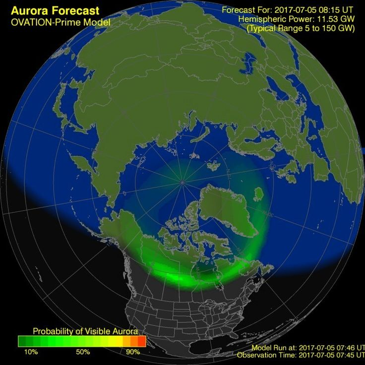 Aurora Borealis Weather Prediction Aurora forecast