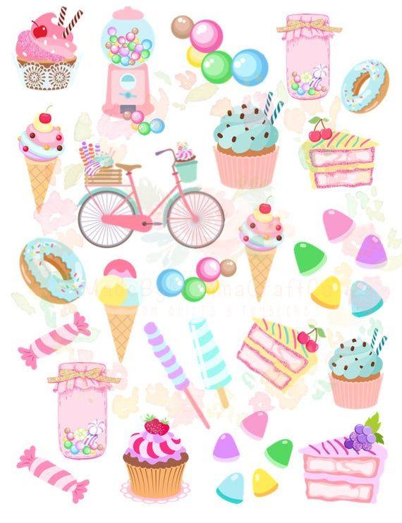 Waterslide Images Sweet Treats Doughnuts Cake Ice Cream Laser Printed Laser Decals T In 2020 Cupcakes Wallpaper Watercolor Wallpaper Iphone Wallpaper Iphone Cute