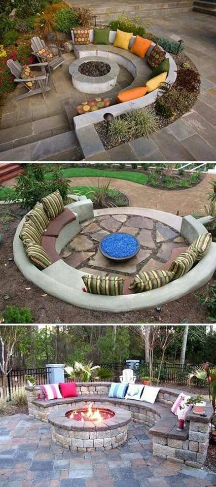 Cute outdoor seating idea.