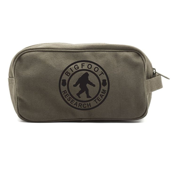 Bigfoot Research Team Canvas Shower Kit Travel Toiletry Bag Case * Click image for more details. (Note:Amazon affiliate link)