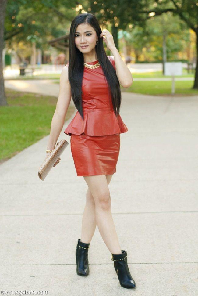peplum dress with boots