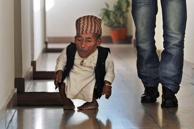 The Shortest man: Chandra Bahadur Dangi is the shortest man on the earth. Guinness authorities confirms his height of 21.5 inches which make him not only the shortest person on the earth but the shortest person ever.
