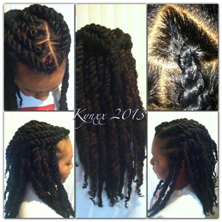Two strand twists...beautiful.