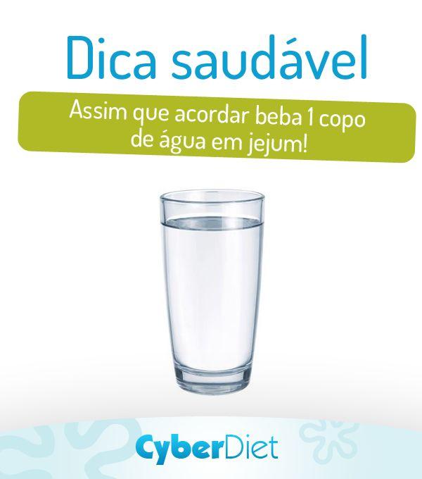 Depois de horas de sono seu corpo não precisa somente de comida, mas também de água! http://maisequilibrio.com.br/guia-da-dieta-saudavel-2-1-1-681.html?origem=Pinterest