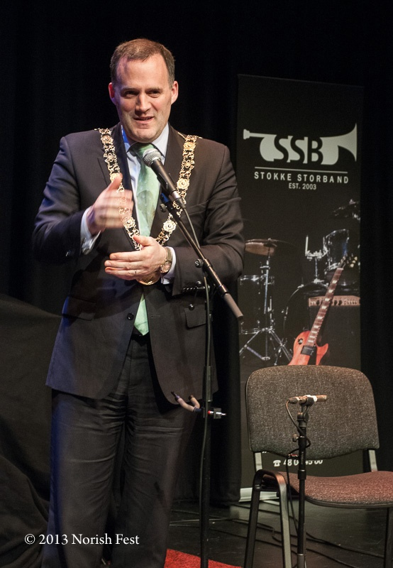 Lord Mayor of Dublin Naoise Ó Muirí at Smock Alley Theater, Dublin, during the Norish Sounds Concert #ireland #irish #norway #norwegian