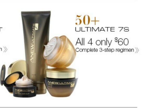 Avons Anew Ultimate7s set for us 50 yrs plus women.  I love and use this set. The eye cream is to supreme. All four peices of the set $60  shop.avon.com.au/store/carey