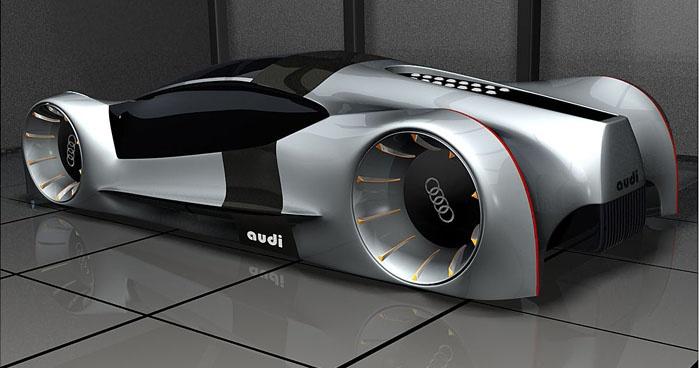 Audi Concept Car Futuristic Vehicle Future Car