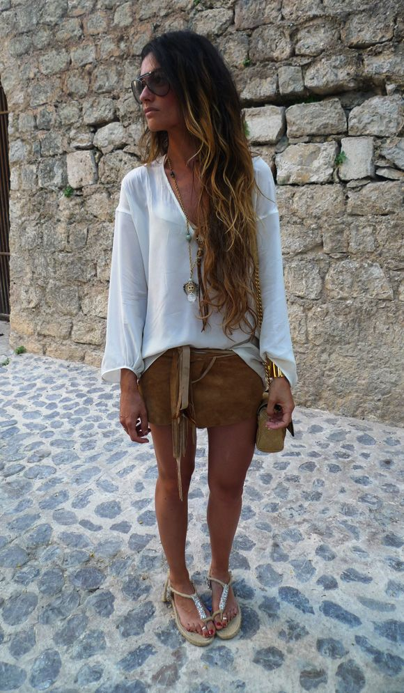 leather leather leather //ombre// fresh: Boho Chic, Hair Colors, Fashion Chic, Brown Leather Skirts, Ombre Hair, Street Style, Cute Outfits, Long Hair, Boho Style