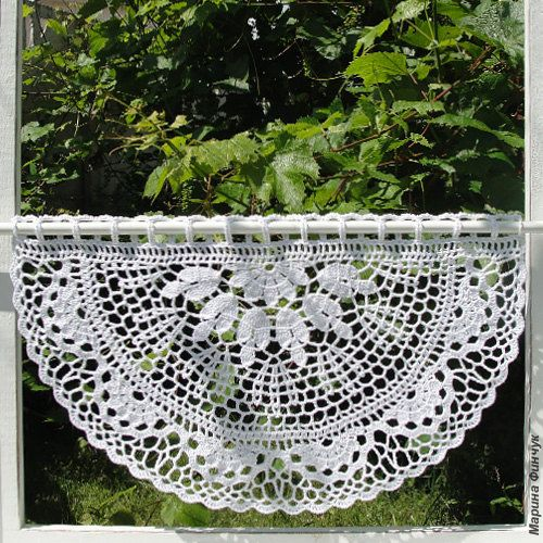 Crocheted Curtain  Eucalyptus by majontak on Etsy, $99.00
