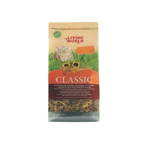 Alimento para Hámster Classic LIVING WORLD - #FaunAnimal mezcla equilibrada de semillas, cereales y nueces que tu mascota buscaría en su hábitat natural.  Al comer líbremente estas golosinas, reciben todos los alimentos necesarios para una vida larga y llena de salud.