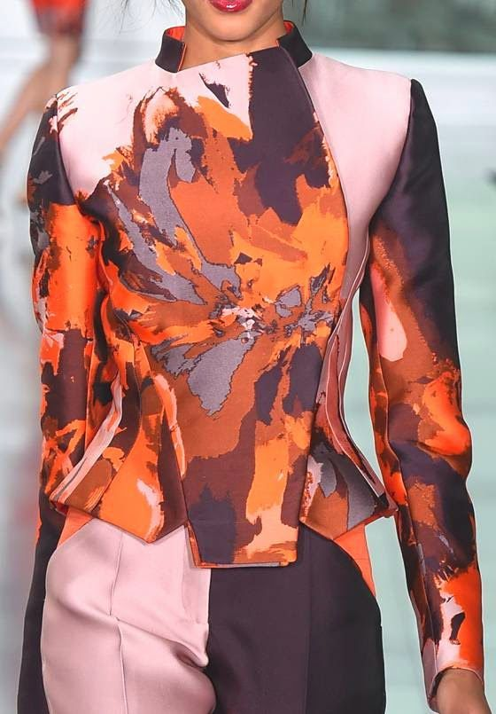 patternprints journal: PRINTS, PATTERNS AND SURFACES FROM LONDON FASHION WEEK (WOMAN COLLECTIONS SPRING/SUMMER 2015) /  Antonio Berardi